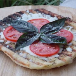 Crispy Grilled Pizza Margherita Recipe