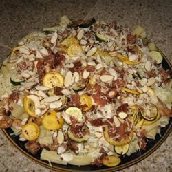 Summer Squash Chicken Alfredo