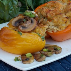Orzo and Chicken Stuffed Peppers Recipe