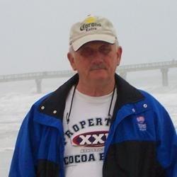 Homeless man on beach.