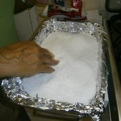 fish in its salt bed