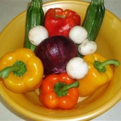 Fresh produce for Veggie Kabobs