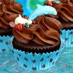 Ghirardelli Dark Chocolate Cupcakes