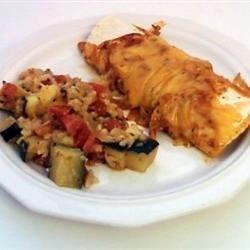 Chicken Enchiladas & Zucchini Herb Casserole