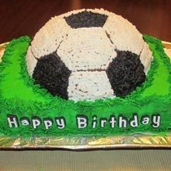 Special Buttercream Frosting - Soccer Cake