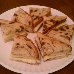 Cinnamon Apple and Havarti Tea Sandwiches