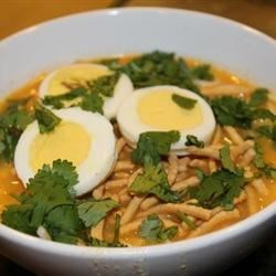 Burmese Chicken-Coconut Soup (Ohn No Kyawswe) Recipe