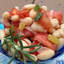 White Bean and Tomato Salad ~ Personal Recipe of:  Semigourmet