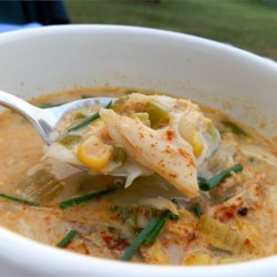 Creole Crab and Corn Chowder