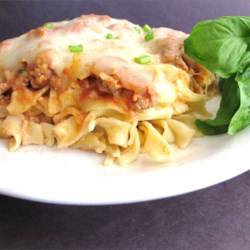 Ground Turkey Noodle Bake Recipe