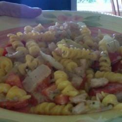lemon and corriander, prawn pasta :D
