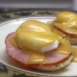 Eggs Benedict with Welsh Rarebit Sauce