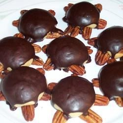 turtle cookies chocolate turtle cookies caramel pecan turtle cookies ...