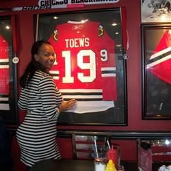 Next to the jersey of my fave Blackhawk in Chicago