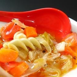 Garlic Vegetable Soup Recipe