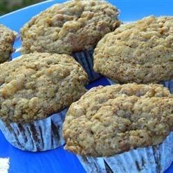 Lighter Banana Crumb Muffins