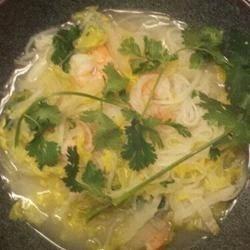 Lime Shrimp Soup with Rice Noodles