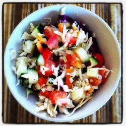 Quick and Tart Cabbage Side Salad Recipe