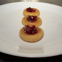 Cheesy Thumbprint Appetizers with Hot Pepper Jelly Recipe