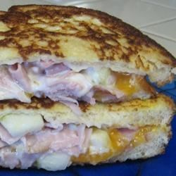 Image of Apple Ham Grilled Cheese, AllRecipes