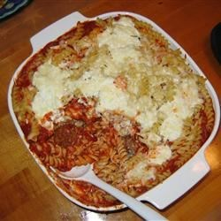 Baked Ziti with Turkey Meatballs Recipe