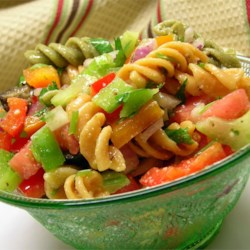 Three Pepper Pasta Salad Recipe