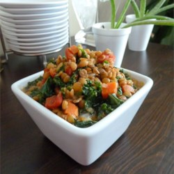 Lemony Lentils with Kale Recipe