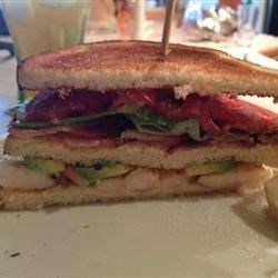 Triple Decker Grilled Shrimp BLT with Avocado and Chipotle Mayo Recipe