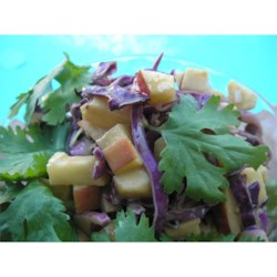 Purple Apple Slaw with Peanut Butter Dressing Recipe