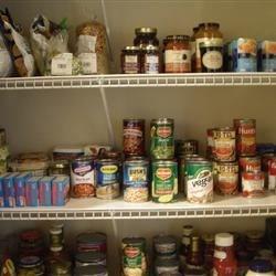 New shelves in pantry