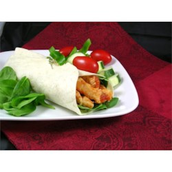 Simple Sweet & Spicy Chicken Wraps
