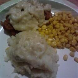 chicken fried chicken and homemade counrty gravy