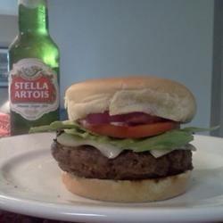 Labor Day Jalapeno Cheddar burger