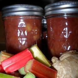 Rhubarb Ginger Jam Recipe