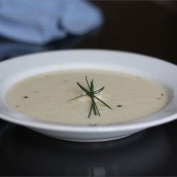 Creamy Cauliflower and Asiago Soup Recipe