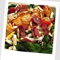 Spinach Salad with Warm Bacon-Mustard Dressing  By: brightlightz