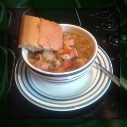 Lentil Soup & Cornbread