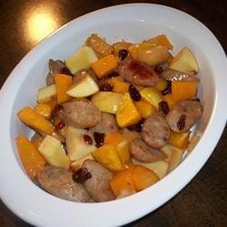 Autumn Apple Chicken Sausage & Butternut Bake