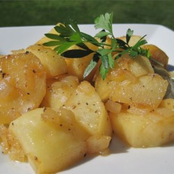 Honey Roasted Russet Potatoes