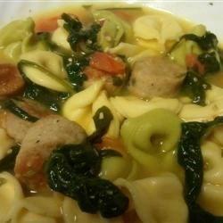 Alfredo Tortellini Soup