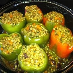 Photo of Vegan Wheat Berry-Stuffed Peppers  by Helen Stachiotti