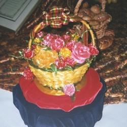 Sugar basket with roses