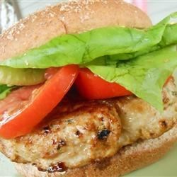 Cilantro Chicken Burgers with Avocado Recipe