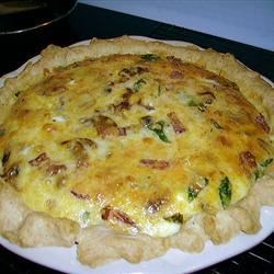 Paula T's Bacon Spinach Quiche - Personal Recipe