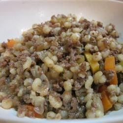 Beef & Barley Casserole
