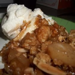 Apple and Pear Crumble |