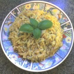 Orzo with Parmesan and Basil