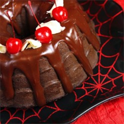 Chocolate Cherry Pudding Bundt Cake