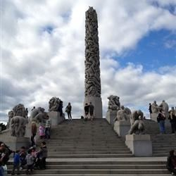 Sculptures in the Frogner Park