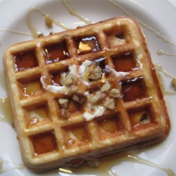 Crispy Walnut Maple Waffles